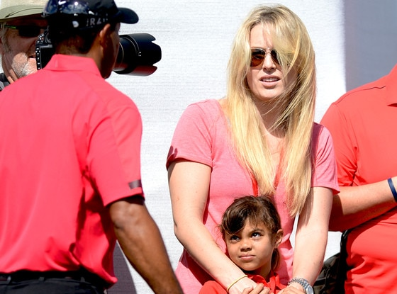 lindsey vonn bonds with tiger woods u0026 39  daughter while watching him play golf u2014see the cute pic