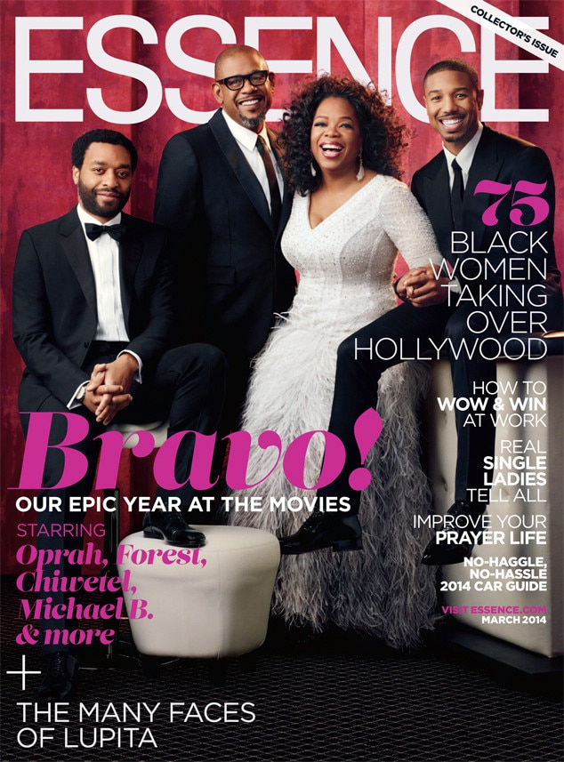 Oprah Winfrey, Forest Whitaker, Chiwetel Ojiofor and Michael B. Jordan, Essence