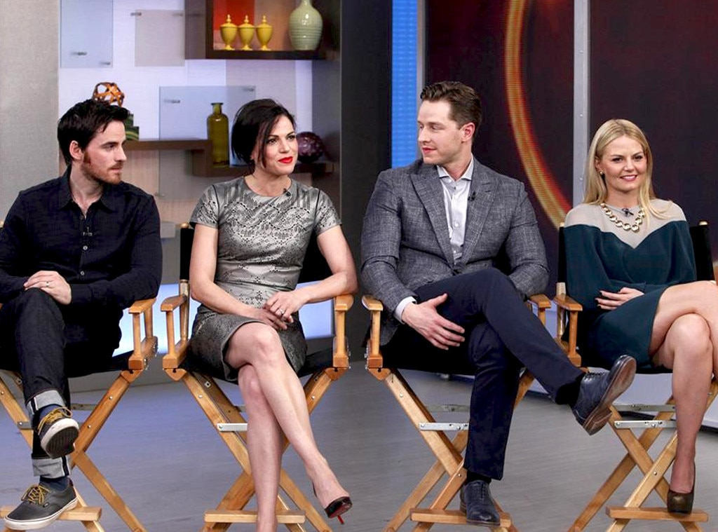 Colin O'Donoghue, Lana Parilla, Josh Dallas, Jennifer Morrison, Once Upon a Time, Good Morning America