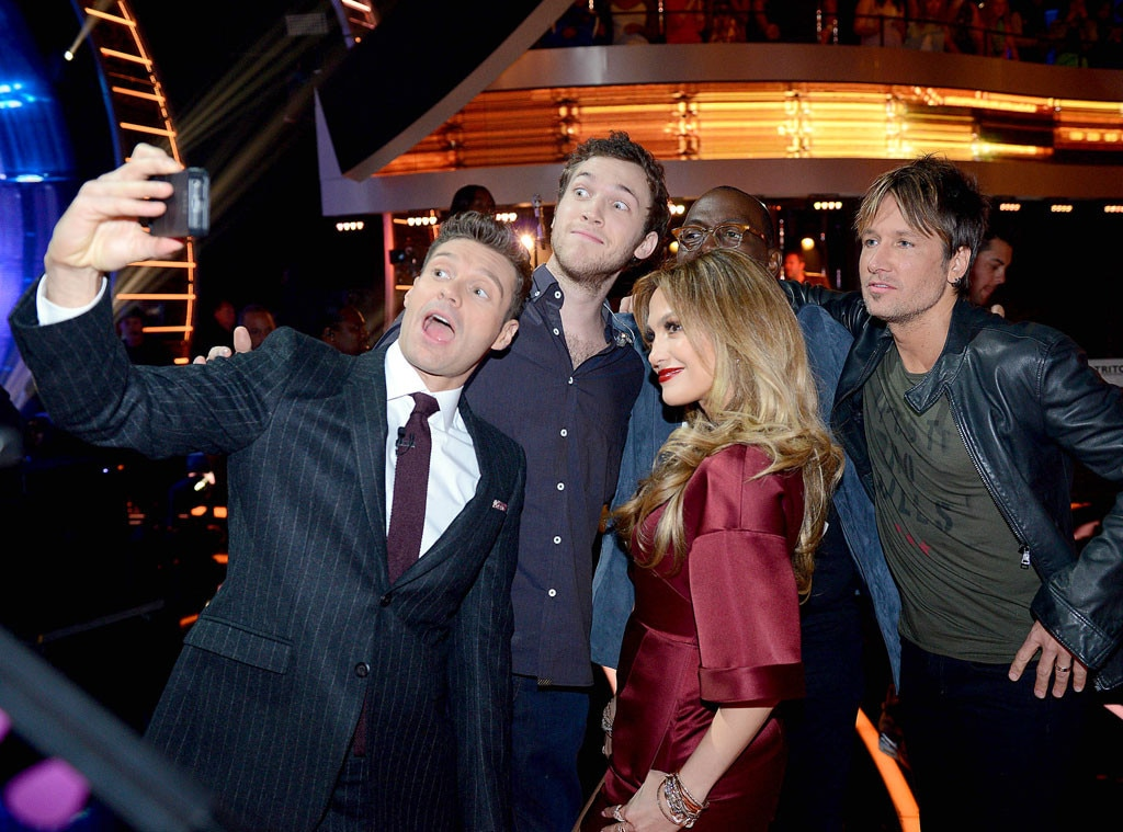 Ryan Seacrest, Phillip Phillips, Jennifer Lopez, Randy Jackson, Keith Urban, American Idol