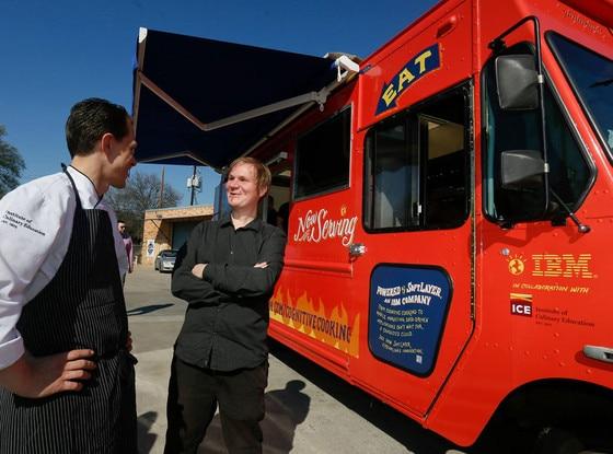 IBM Watson Food Truck, Chef Michael Laiskonis, IBM scientist Florian Pinel