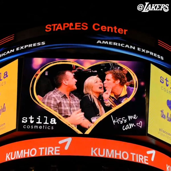 Will Ferrell, Kiss Cam, Lakers Instagram