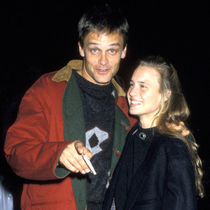 Robin Wright with her first husband, Dane Witherspoon