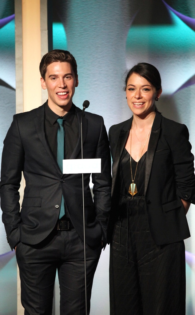 Jordan Gavaris, Tatiana Maslany, GLAAD Media Awards