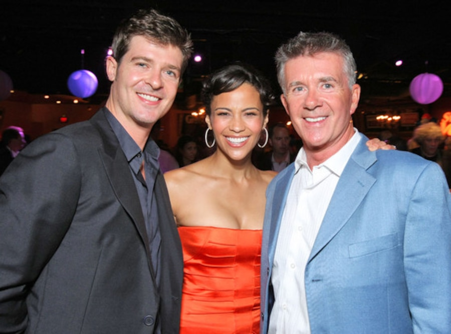 Robin Thicke, Paula Patton, Alan Thicke
