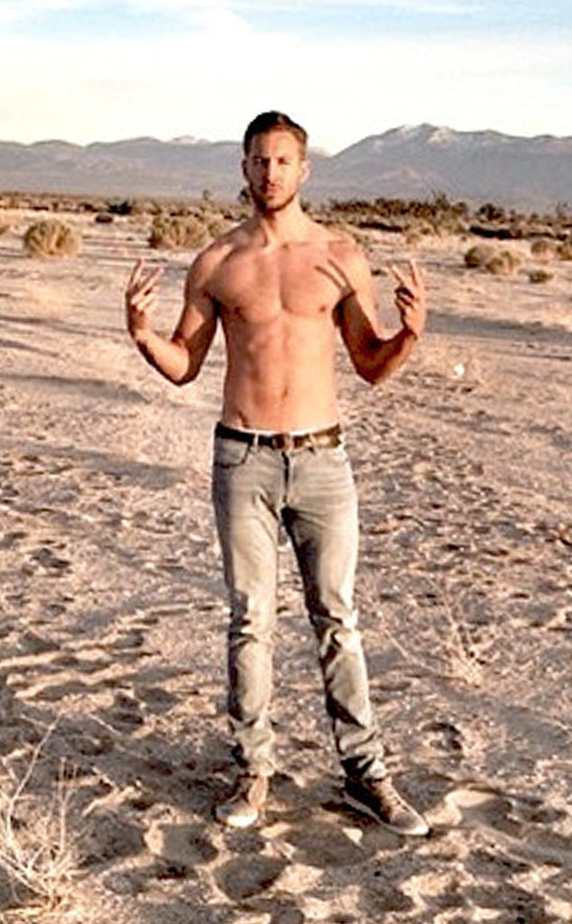 Calvin Harris, Shirtless