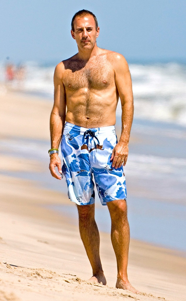 Matt Lauer, Shirtless