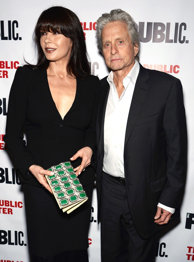 Catherine Zeta Jones And Michael Douglas Walk First Joint