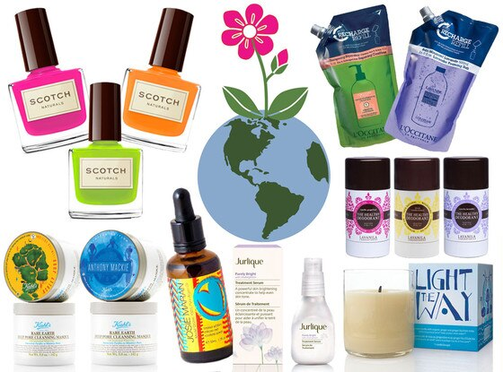 Earth Day Beauty Products Collage
