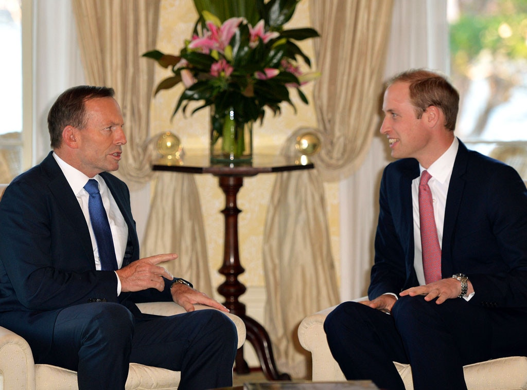 Prince William, Tony Abbott