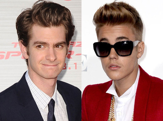 Andrew Garfield, Justin Bieber