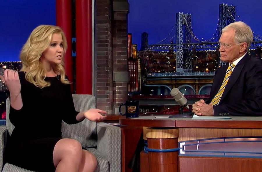 Amy Schumer, David Letterman