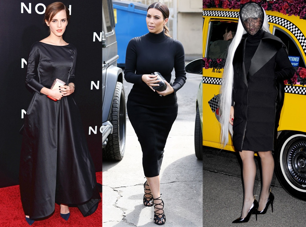 Emma Watson, Kim Kardashian, Lady Gaga
