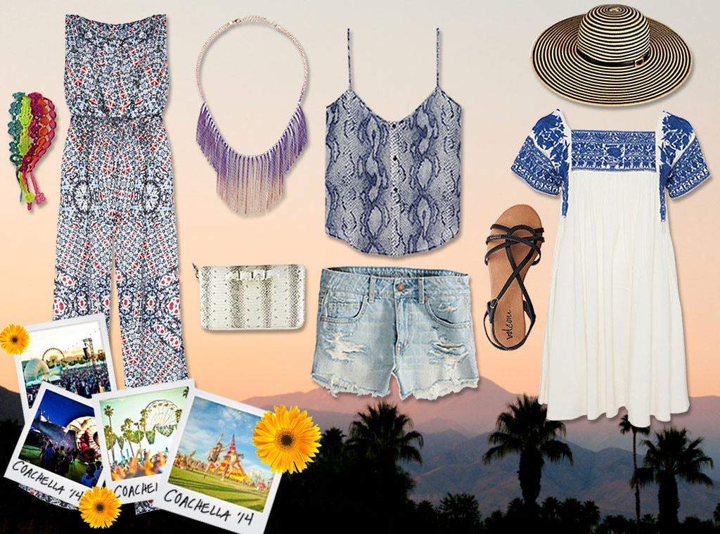 Coachella Fashion Collage