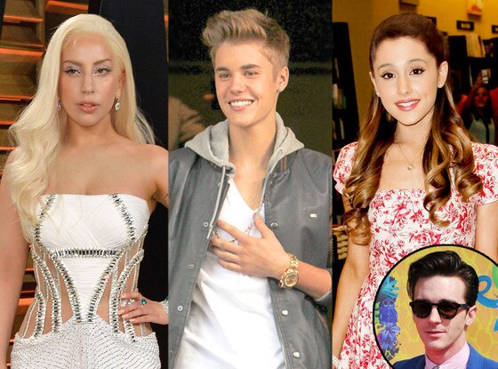 Lady Gaga, Justin Bieber, Ariana Grande, Drake Bell
