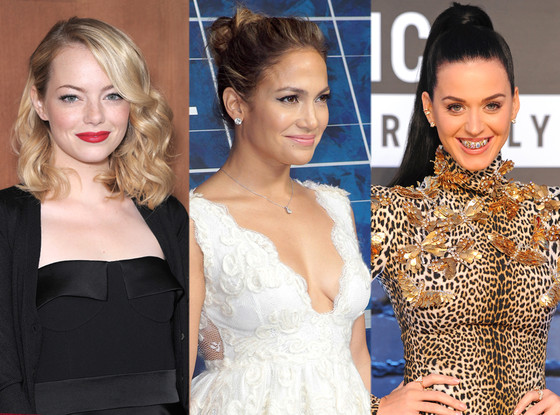 Jennifer Lopez, Emma Stone, Katy Perry, Jen Atkin