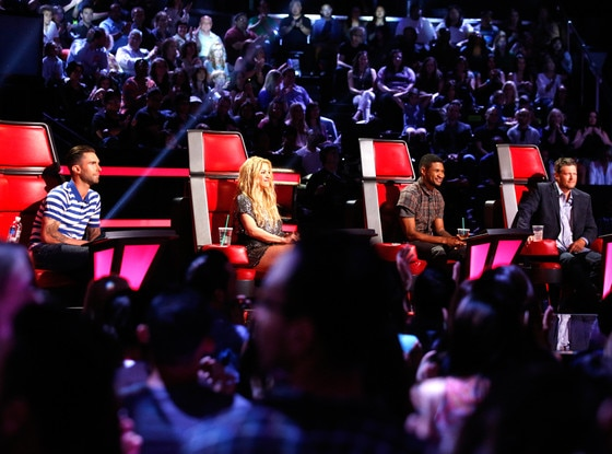 The Voice, Adam Levine, Shakira, Usher, Blake Shelton