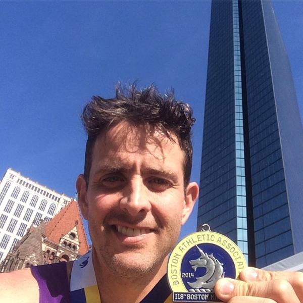 Joey McIntyre, Boston Marathon