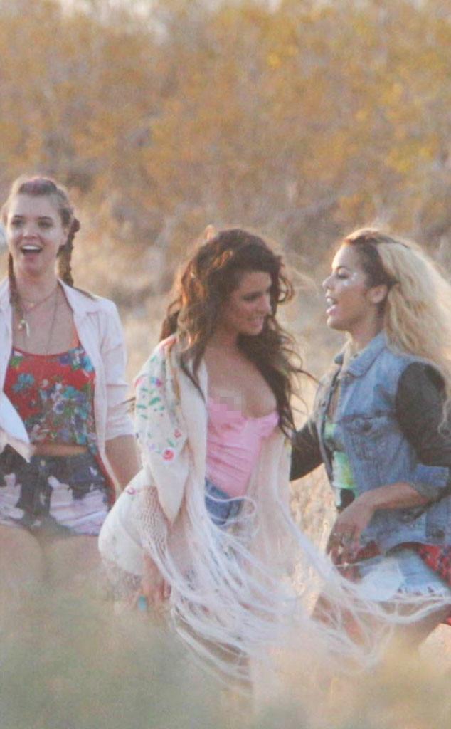 Lea Michele, Nip Slip