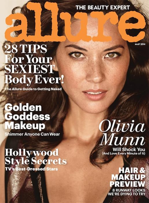Olivia Munn, Allure embargoed until 4/22/14