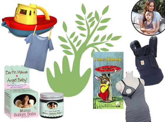 Alicia Silverstone Earth Day Baby Products Collage