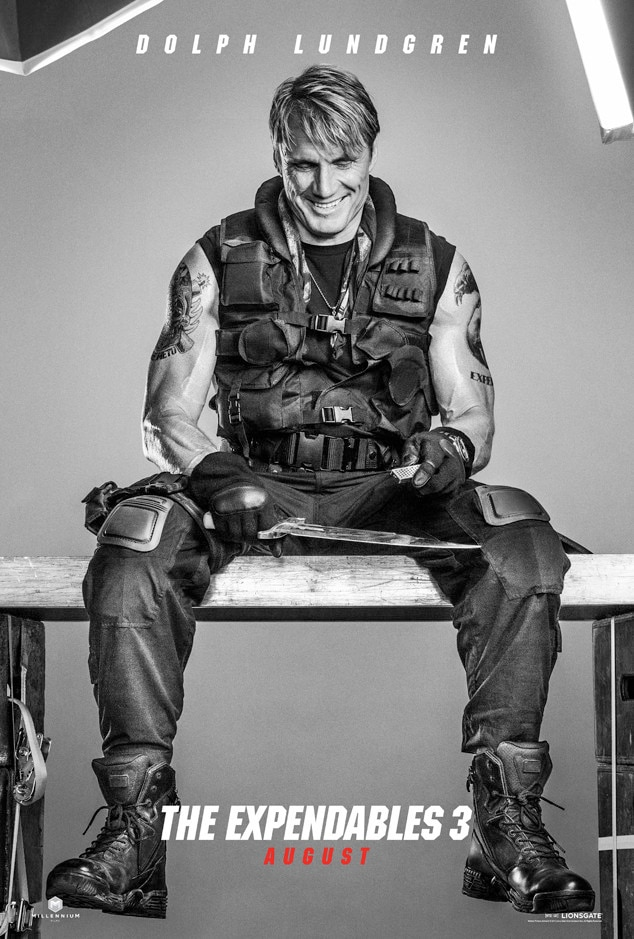Dolph Lundgren, Expendables 3, Poster
