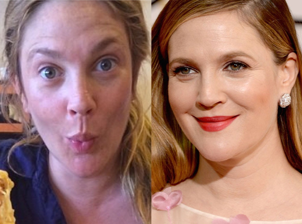 Drew Barrymore, No Makeup