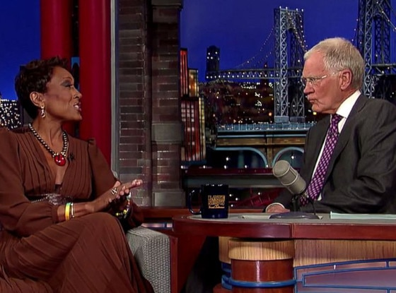 Robin Roberts, David Letterman