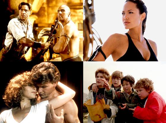 Tomb Raider, The Mummy, The Goonies, Dirty Dancing