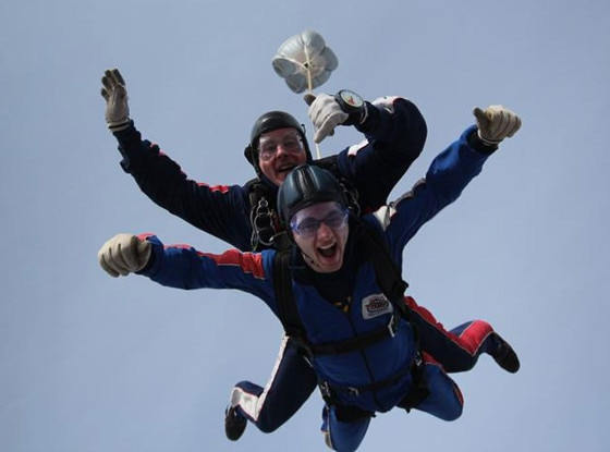 Stephen's Story, Skydiving