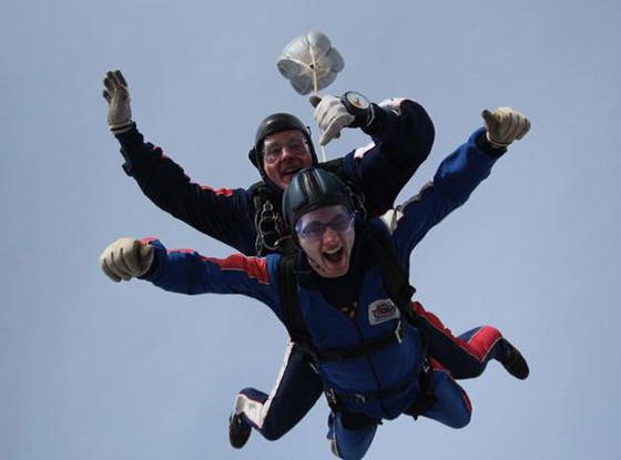 Stephen's Story, Skydiving