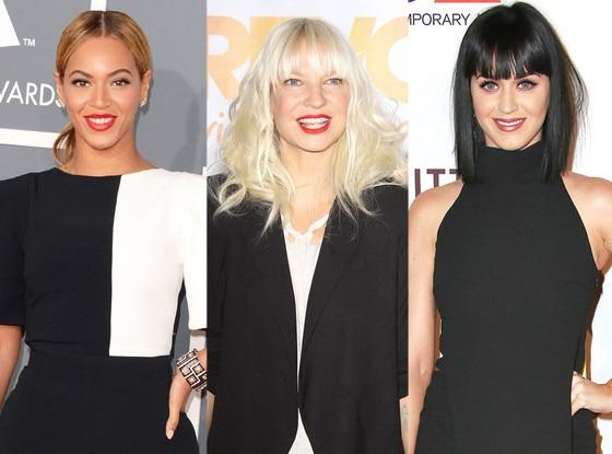 Beyonce, Sia Furler, Katy Perry