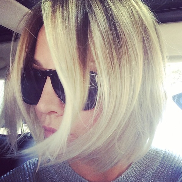 Kaley Cuoco, Hair