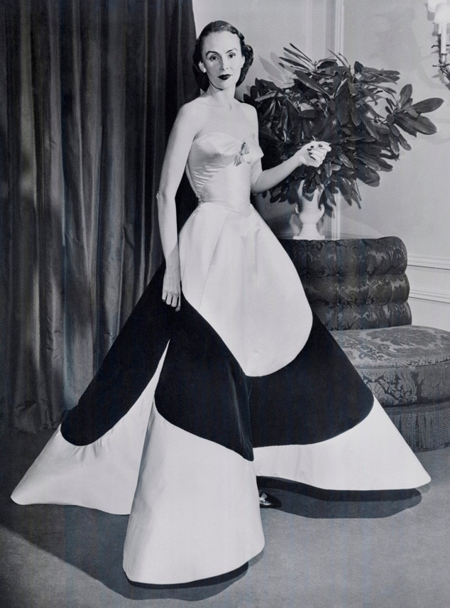Austine Hearst In Charles James Clover Leaf Gown Ca 1953