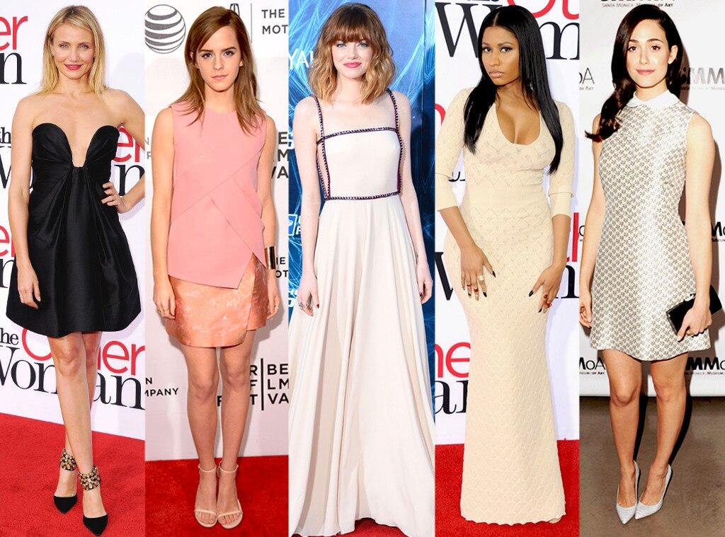 Nicki Minaj, Emma Stone, Emma Watson, Emmy Rossum, Cameron Diaz