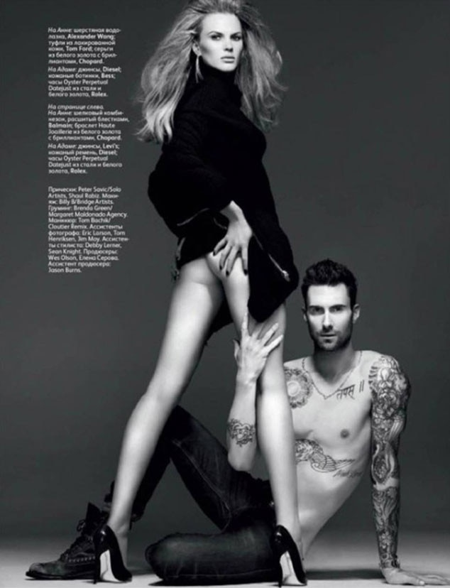 Adam Levine, Vogue, Anne V.