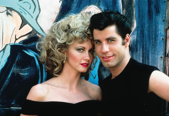Olivia Newton John, John Travolta, Grease