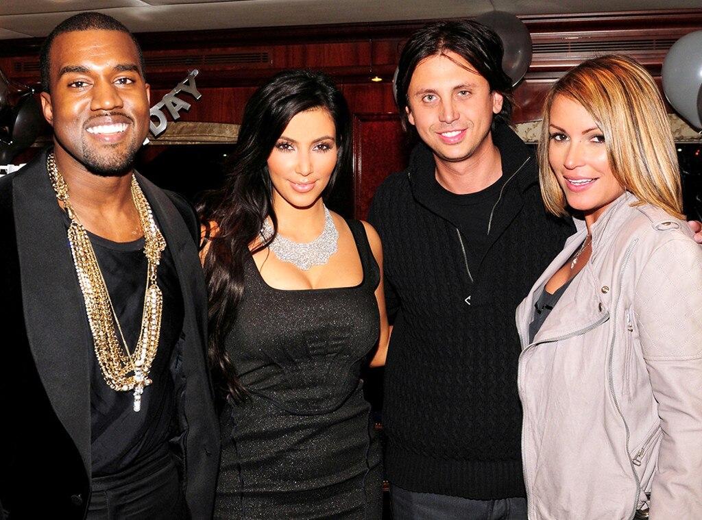 Kanye West, Kim Kardashian, Jonathan Cheban, Angie Martinez