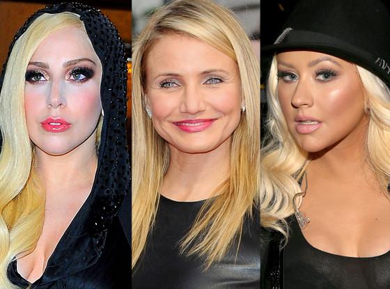 Lady Gaga, Cameron Diaz, Christina Aguilera