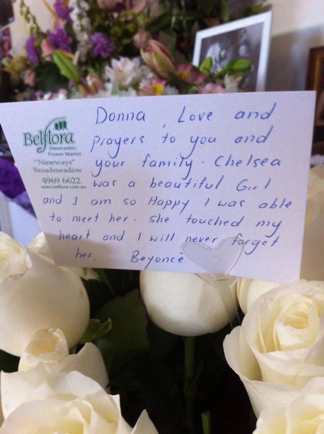 Beyonce, Chelsea Lee James Flowers