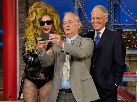 Lady Gaga, Bill Murray, David Letterman