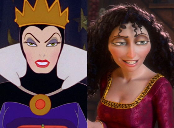The Evil Queen, Snow White, Gothel, Tangled