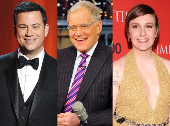 Jimmy Kimmel, David Letterman, Lena Dunham