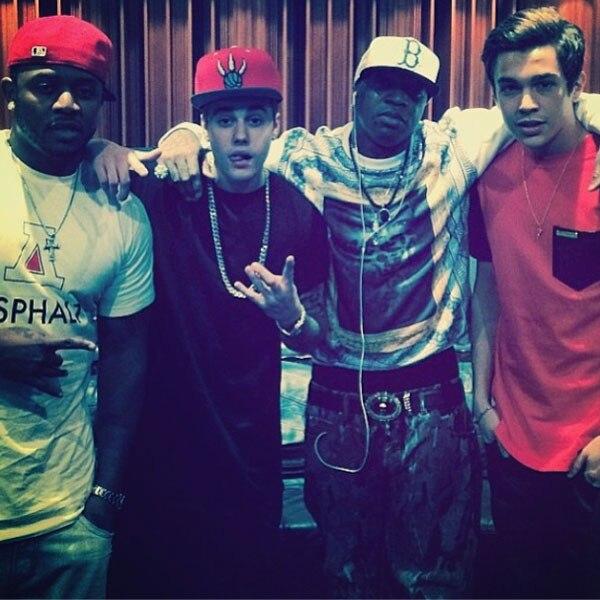 Justin Bieber, Austin Mahone, Instagram