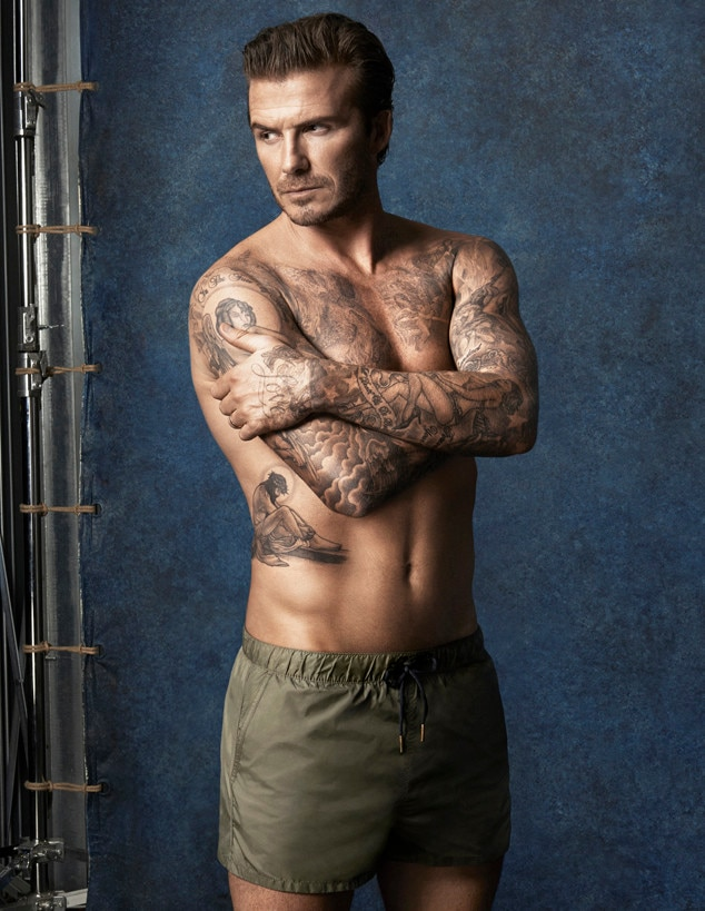 David Beckham Swim Ad Campaign Images