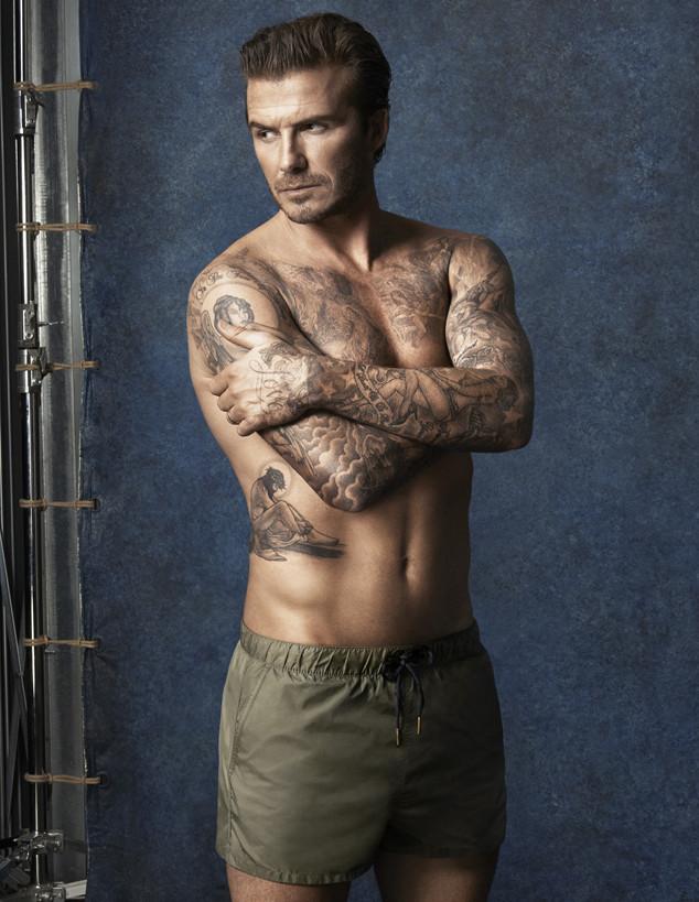 David Beckham Swim Ad Campaign Images