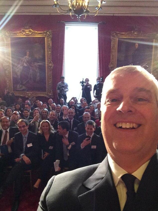 Prince Andrew, Selfie