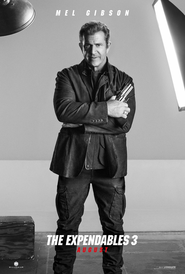 Mel Gibson, Expendables 3, Poster