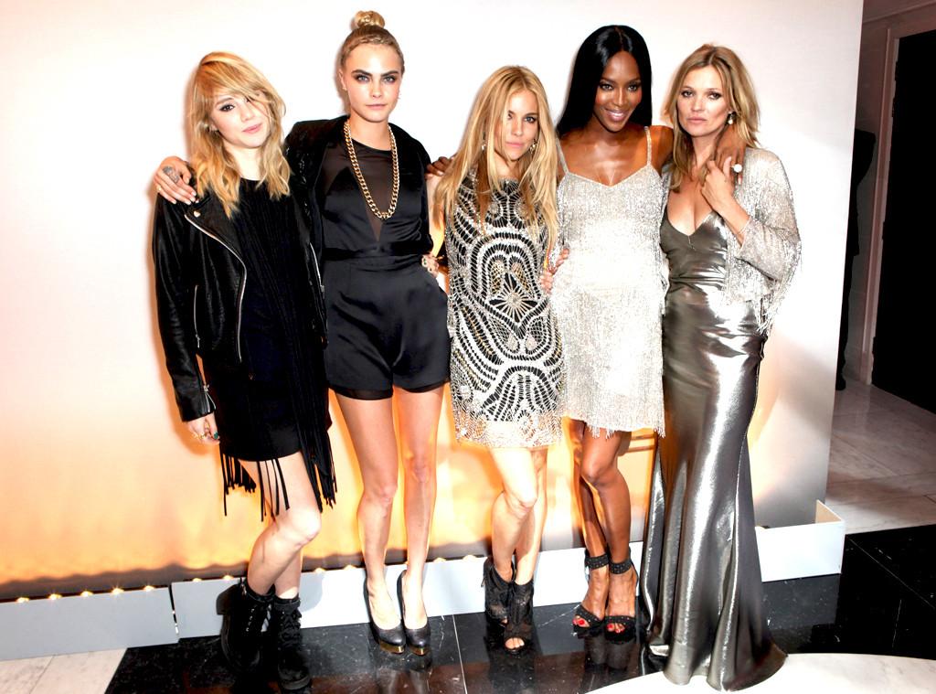 Suki Waterhouse, Cara Delevingne, Sienna Miller, Naomi Campbell and Kate Moss