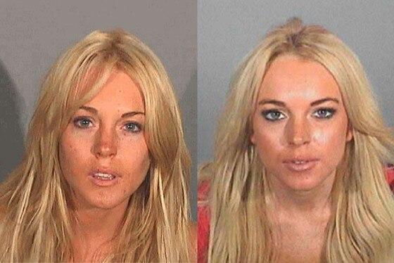 Lindsay Lohan mug shot mugshot